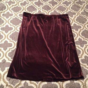 Velvet Skirt- Burgundy- Size Large- Cato NWOT